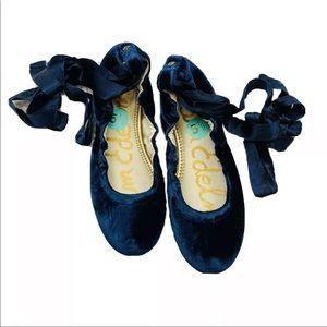Sam Edelman Fallon Inky Navy Ballet Flats 5.5M